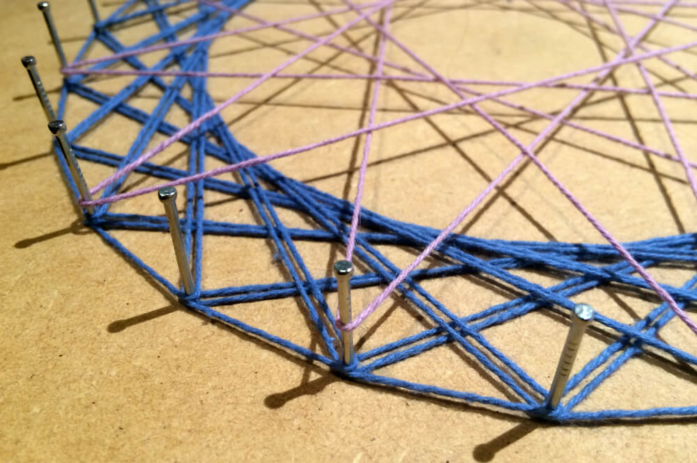 string art diy home project stay home